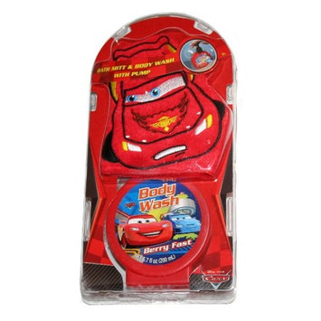 Disney Pixar Cars Bath Mitt & Body Wash With Pump