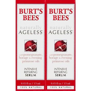 Burt's Bees Naturally Ageless Intensive Repairing Serum, 0.45 Fluid Ounces (2 Pack) + Curad Bandages 8 Ct.