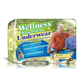 Wellness Absorbent Underwear w/ NASA Technology, Large, Case/48 (4/12s)