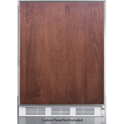 Summit FF7LBIFRADA: ADA compliant commercial built-in auto defrost all-refrigerator with lock, white cabinet