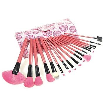Makeup Brushes Set Careshine 18pcs Professional Cosmetic Brush Set with Rose Case Foundation Brush Concealer Eye Face Liquid Powder Cream Cosmetics Brushes Kit