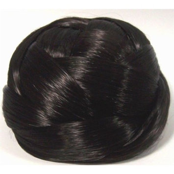 BUBBLE Dome Wiglet Chignon Bun Hairpiece - 2 Darkest Brown