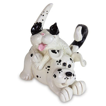 Exhart 30386 6 in. Pence Pets Dog and Cat Statue