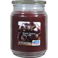 Lancaster Colony Mainstays 20 oz Candle Black Cherry, Burgundy