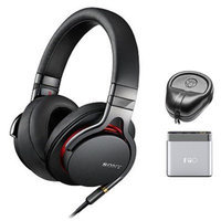 Sony Premium High-Resolution Stereo Headphones - Black w/ FiiO A1 Amplifier Bundle
