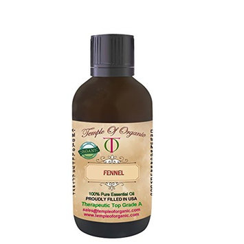 1 Oz - 30 Ml Fennel Essential oil 100% Organic Natural Pure Undiluted Steam Distilled Therapeutic Top Grade A for hair skin fine lines dry flaky scalp By Temple Of Organic