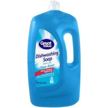 Great Value Dish Soap, Original Scent, 90 fl oz