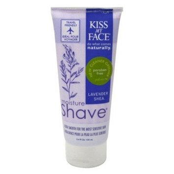 Kiss My Face Lavender Shea Shaving Cream 3.4 oz (Pack of 3)