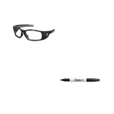 Shoplet Best Value Kit - Crews Swagger Safety Glasses (CRWSR110) and Sharpie ...