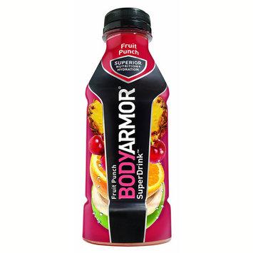 Body Armor Fruit Punch Sports Drink 16 oz Plastic Bottles - Pack of 12