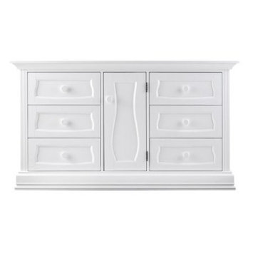 Trifecta Industries Eco Chic Baby Dorchester 6 Drawer Double Dresser - Pure White