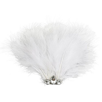 SODIAL(R) Women's Diamante Hair Clips Wedding Party DIY Hair Decor White