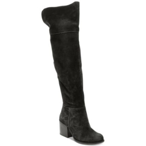 black boots Steve Madden Women's Orabela Over-The-Knee Boots