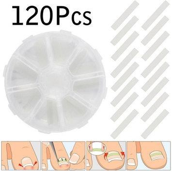 ZHUOTOP 4mm 120pcs/Box Ingrown Toenail Straightening Clip Sticker Brace Toenails Thick Paronychia Acronyx Correction Patch Foot Tool