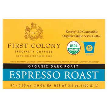 White Coffee Corp. First Colony, Coffee Single serve Espresso, 10 Pc (Pack Of 4)