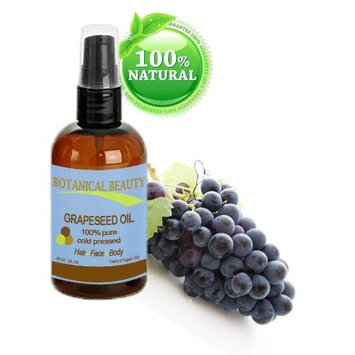 Botanical Beauty Grapeseed Oil, 100% Pure, Cold Pressed.. 1 oz-30 ml