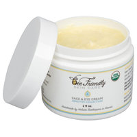 USDA Certified Organic Face & Eye Moisturizer By BeeFriendly Sensitive Collection - Deep Moisturizing All In One Face, Eye, Neck and Decollete Anti Aging Cream Reduces Wrinkles & Fine Lines
