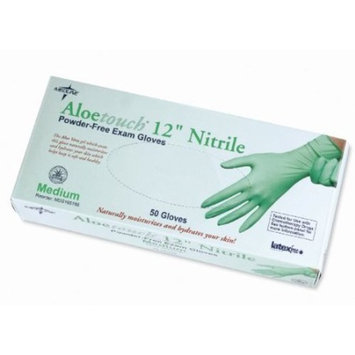 MDS195184 - Aloetouch Extended Cuff Chemo Nitrile Exam Gloves,Green,Small