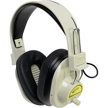 Califone Wireless Headphones Color-Coded Yellow via Ergoguys - Wireless Connectivity - Stereo - Over-the-head - Yellow