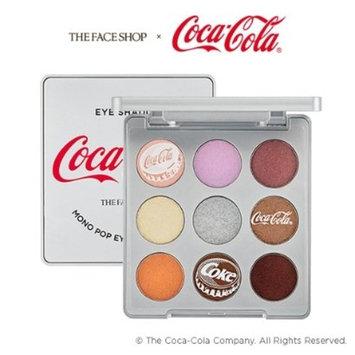 The Face Shop x Coca-Cola Mono Pop Eyes COCA COLA 02 Coke Silver Eye Shadow Palette 9 Colors