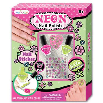 Hot Focus Water Based Neon Nail Polish Value Set