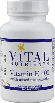 Vital Nutrient's Vital Nutrients, Vitamin E 400 with Mixed Tocopherols 100 capsules