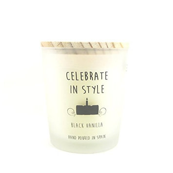 Cereria Molla Hand Poured Luxury Candle Made in Spain Celebrate In Style Black Vanilla