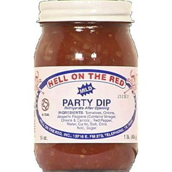 Hell On The Red Texas Mild Party Salsa 16 OZ(Pack of 3)