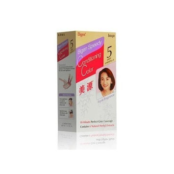 Bigen Speedy Hair Conditioning Color Kit (Shade 5, Deep Chestnut) - 3 kits by Hoyu Co., Ltd.