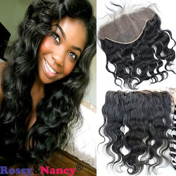 Rossy&Nancy Brazilian Body Wave 13X6 Lace Frontal with Baby Hair Unprocessed Body Wave Virgin Human Hair for Black Women 12inch
