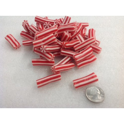 Vidal Licorice Candy Canes Red White Christmas Candy sweet fruit flavor 4.4 pounds