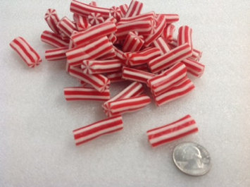 Vidal Licorice Candy Canes Red White Christmas Candy sweet fruit flavor 1 pound