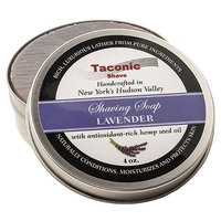 Taconic Shave Barbershop Quality Lavender Shaving Soap with Antioxidant-Rich Hemp Seed Oil