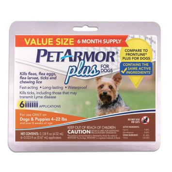 Sergeant's Pet Care Products, Inc. PetArmor Plus for Dogs 4-22 Lbs, 6-Count