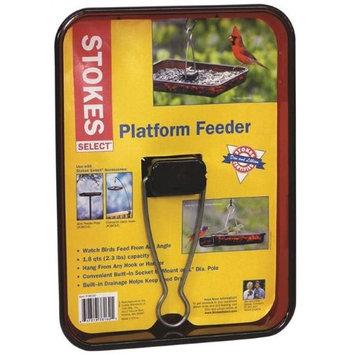 Hiatt Manufacturing 3027133 Platform Bird Feeder 1.8 qt. 8.5 x 11.5 x 1.52 in. Polycarbonate Red