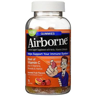 Airborne Gummies Blast of Vitamin C 75 Gummies (Pack of 2)