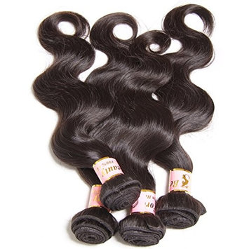 Beauty Forever Hair Brazilian Virgin Hair Body Wave Weave 3 Bundles 10A Unprocessed Virgin Human Hair Extensions Natural Color (100+/-5g)/pc 24 26 28 Inch