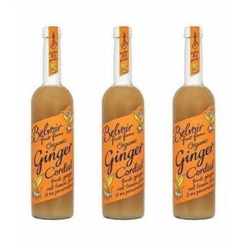 (3 PACK) - Belvoir Ginger Cordial - Organic | 500ml | 3 PACK - SUPER SAVER - SAVE MONEY