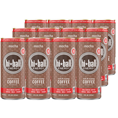 Hiball Energy Cold Brew Coffee Mocha 8 Oz Cans - Pack of 12