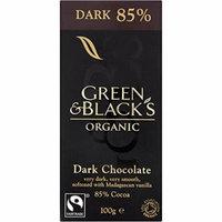 Green & Black's - Dark 85% Chocolate - 100g (Pack of 5)
