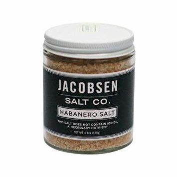 Jacobsen Salt Co, Habanero Flavor, Gourmet Infused Sea Salt, Hand-Harvested in Netarts Bay, OR, Made in the USA, 4.8 Oz (136 g) Jar