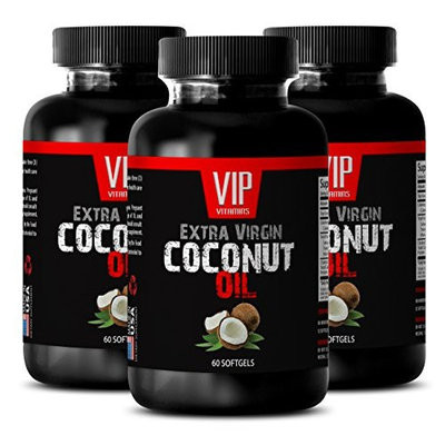 Lose weight pills - COCONUT OIL EXTRA VIRGIN - Weight loss natural - 3 Bottles 180 Softgels