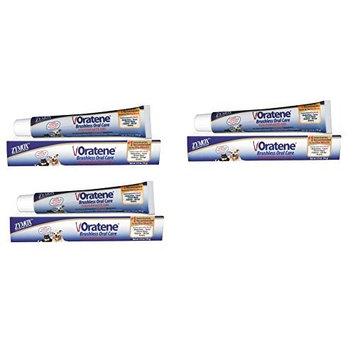 Zymox Oratene Brushless Oral Gel Toothpaste Formula Pet Dog 2.5 oz Tube Pack of 3