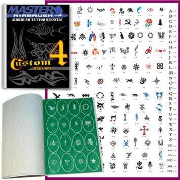 SET 4 BOOK 160 Reusable Airbrush Temporary Tattoo Stencil Art Designs Templates