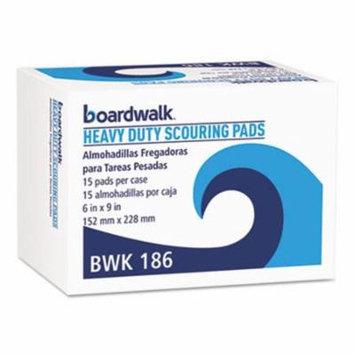Boardwalk Heavy-Duty Scour Pads, 6
