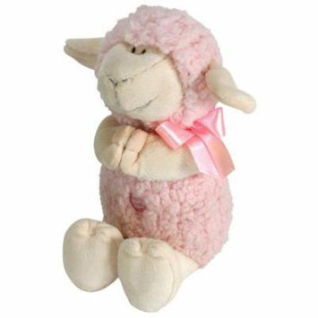 Stephan Baby Ultra Soft and Huggable Musical Praying Woolly Lamb, Pink Multi-Colored