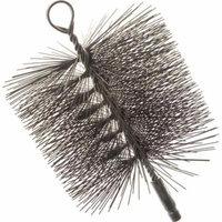 Imperial BR0210 Premium Square Chimney Cleaning Brush, 7 x 7 in, Wire Bristle Trim