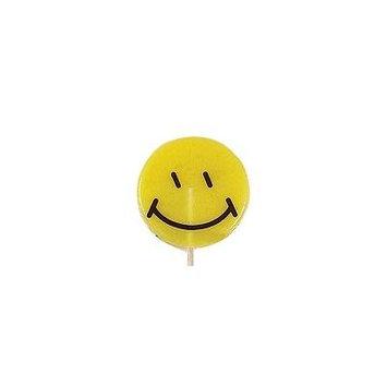 Yellow Happy Face Lollipop: 24 Count