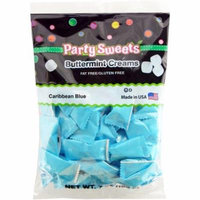 Party Sweets Caribbean Blue Buttermint Creams Candy, 7 oz