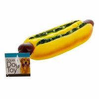 Giant Hot Dog Squeaky Dog Toy - Set of 12
